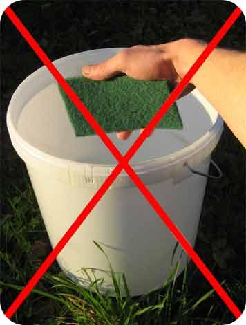 pas de tampon vert