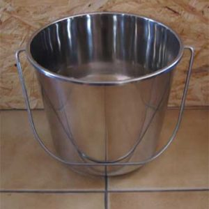 seau inox toilette sèche 15 litres