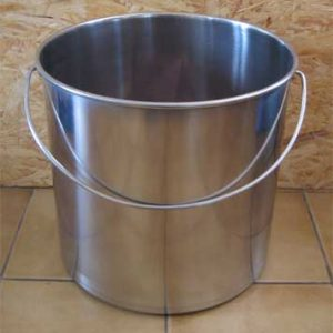 seau inox toilette sèche 20 litres