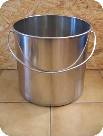 seau inox toilette sèche 30 litres
